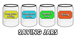 childrens savings jars