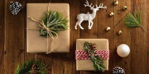 brown wrapping paper for christmas